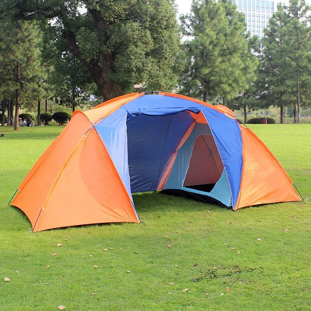 High Quality 5 Person Family Camping Dome Tent Canvas Swag Hiking