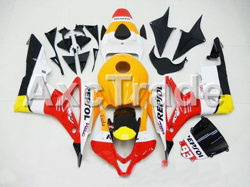 Motorcycle Fairings For Honda CBR600RR CBR600 CBR 600 RR 2007 2008 F5 ABS Plastic Injection Fairing Bodywork Kit Red Yellow No93 abs injection fairings kit for honda 600 rr f5 fairing set 07 08 cbr600rr cbr 600rr 2007 2008 castrol motorcycle bodywork part