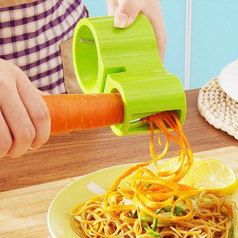 Ralador duplo espiral com apontador de faca suprimentos de cozinha criativos