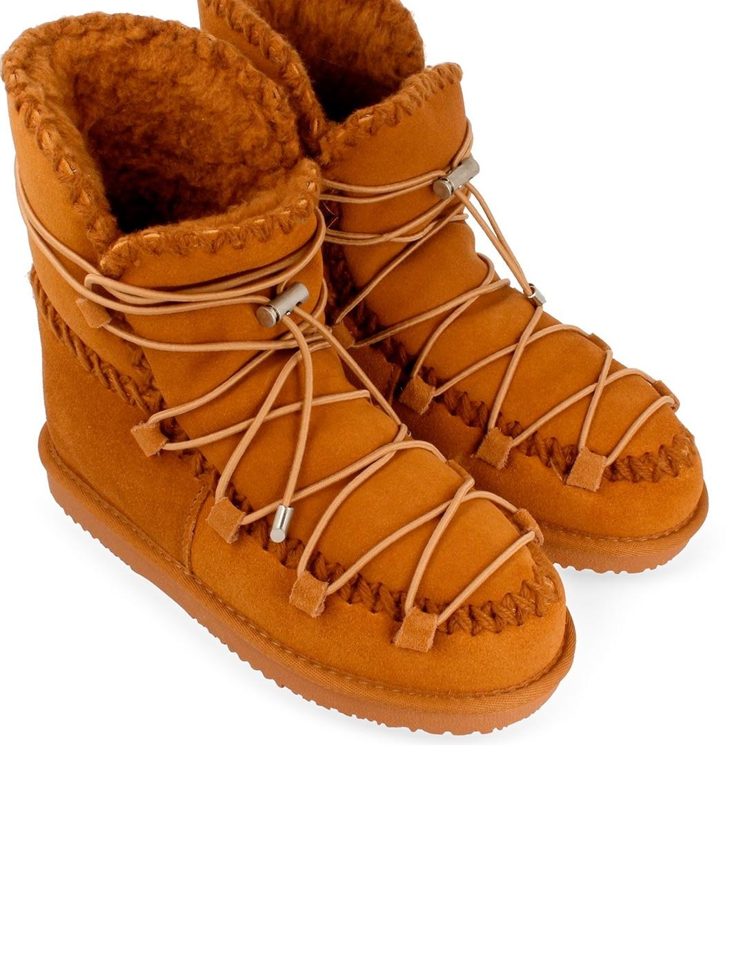 Brown bota con cordones por Gioseppo esquimal in Botas hasta