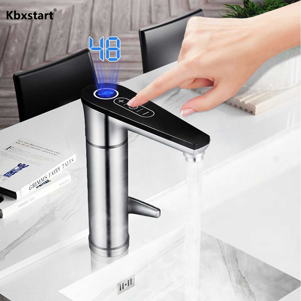 220V Thankles Touch Faucet ABS Material Induction Heater Water Tap With LED Display Screen Detachable Outlet Produtos De Cozinha220V Thankles Touch Faucet ABS Material Induction Heater Water Tap With LED Display Screen Detachable Outlet Produtos De Cozinha
