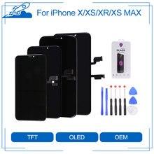 Elekworld TFT OLEDสำหรับiPhone X XS XR XS MAXจอแสดงผลLCD 3Dหน้าจอสัมผัสDigitizerประกอบกับของขวัญ