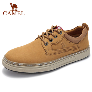 Image 1 - CAMEL Autumn Winter New Genuine Leather Scrub Casual Shoes Fashion Mens Short Boots Wear Fashion casual Men Shoes