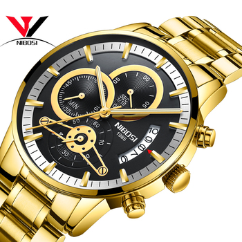 Relogios NIBOSI Top Brand Watches Men Luxury 2019 Relogio Masculino Sports For Waterproof