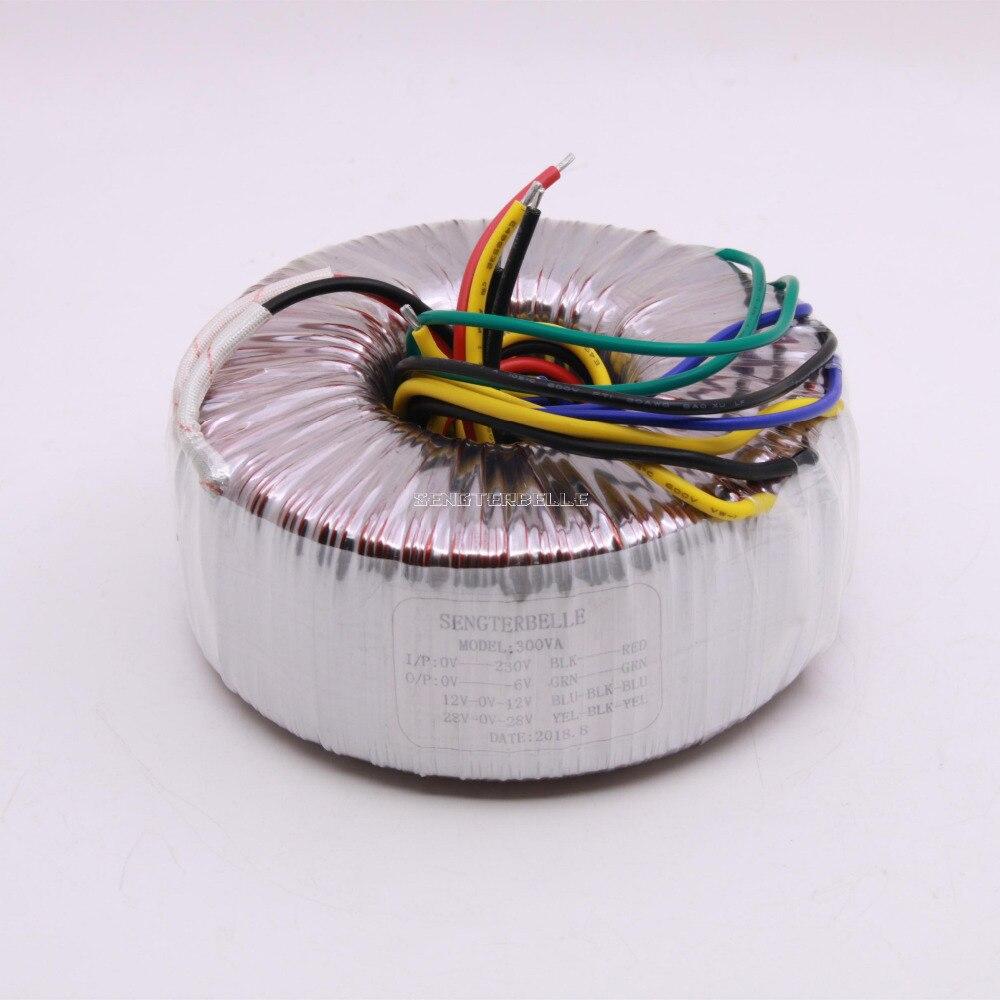 300W Pure Copper Toroidal Transformer Dual 28V Dual 12V Single 6V Power Supply For Amplifier Audio