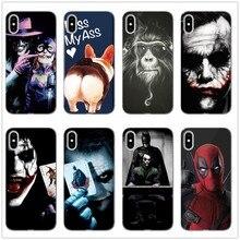 Suicide Squad Joker Harley Quinn DC Comics Phone Case Fundas For iphone 8 X XS XR Max 6 7PLUS Silicone Soft Silicone TPU Coque zshop suicide squad backpack marvel dc joker schoolbag for children american manga chracter daypack