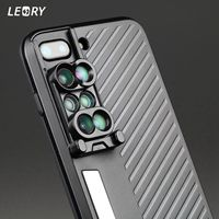 LEORY 1 pcs 6 in 1 Phone Camera Lens Telephoto Fisheye Macro Wide Case For iPhone 7 Plus Mobile Phone Accessories