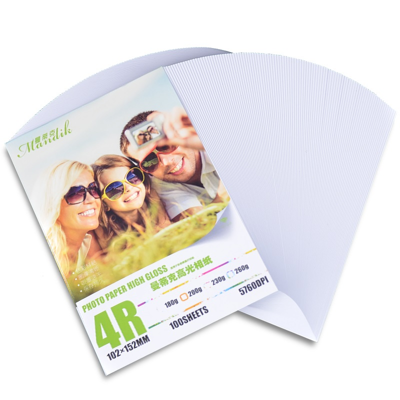 High Quality 200gsm 100 Sheets 4R Glossy Photographic Paper