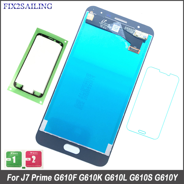 US $16 58 36% OFF|FIX2SAILING 100% Working AMOLED LCD Display Touch Screen  Assembly For Samsung Galaxy J7 Prime G610F G610K G610L G610S G610Y-in