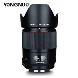 Широкоугольный объектив YONGNUO 35 мм F1.4 для Canon6D 5D MARK IV 70D 200D 6D MARK II T6 1300D 200D 70D 7D G7X mark ii