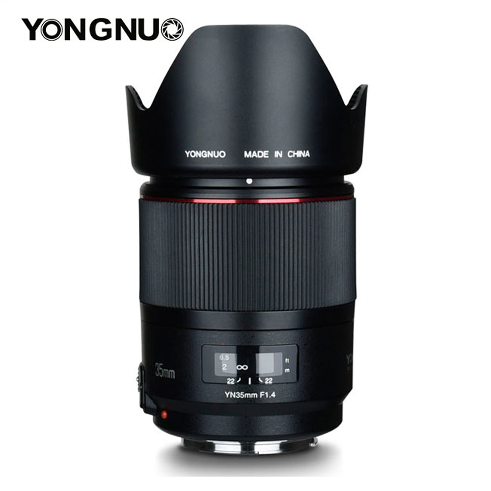 YONGNUO 35mm F1.4 Wide-Angle Prime Lens for Canon6D 5D MARK IV 70D 200D 6D MARK II T6 1300D 200D 70D 7D G7X mark ii