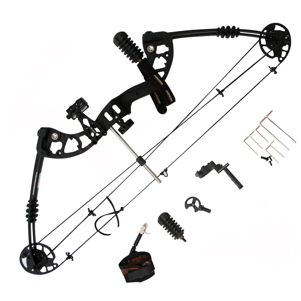 Archery hunting bow Aluminum Alloy Compound Bow With 30-60 lbs Draw Weight Black Color for outdoor shooting with Bow Release 20 70 lbs compound bow 17 29 inch by aluminum alloy in 3 color for outdoor archery hunting shooting