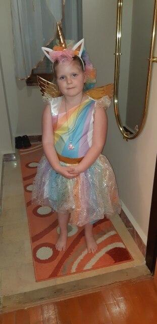 Unicorn Rainbow Sequin Tutu Dress photo review