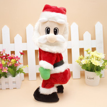 Cute kids lovely Christmas electric toy Santa Claus dance with sound toys funny Birthday  Christmas decorations gifts