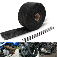 Exhaust Pipe Header Heat Wrap Resistant Downpipe 10M 5mX5cnm Black Exhaust Pipe Stainless Steel Ties For