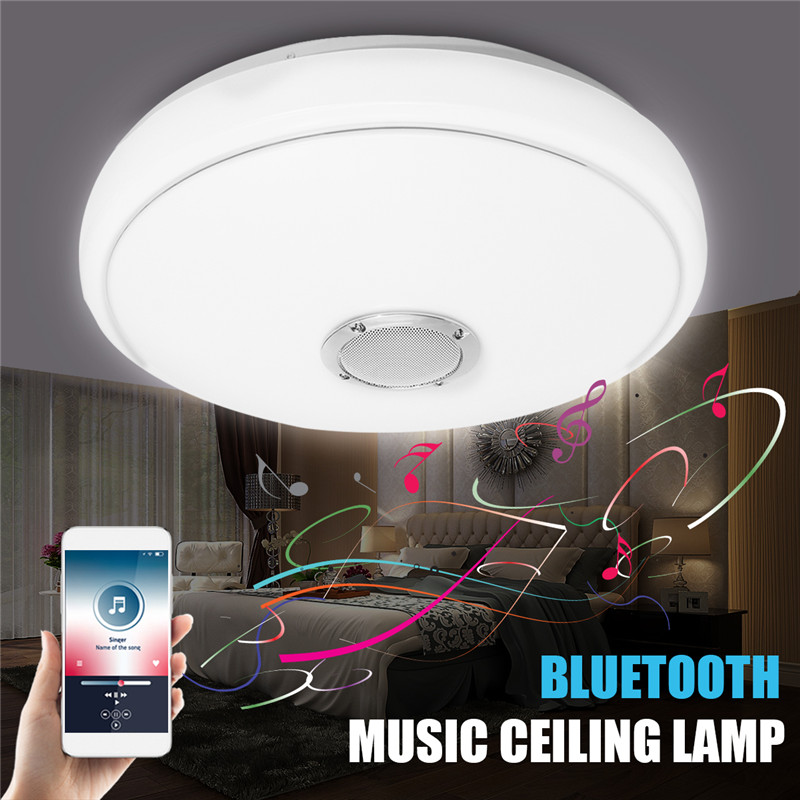Smuxi Music LED Ceiling Light with Bluetooth Control Color Changing Lighting Flush Mount Lamp For Bedroom Ceiling Light Fixtures