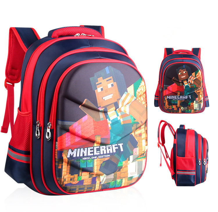 Children Kindergarten Backpack Boy Cute MineCraft Cartoon Backpack Hot Gift School Bags For Boys And Girls hot sale girls boys cartoon children school bags cute drawstring masha