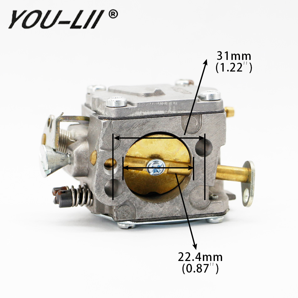 YOULII New Carburetor 20mm Gasoline For HUSQVARNA 61 268 266 272 XP Chainsaw Motorcycle Carb цена