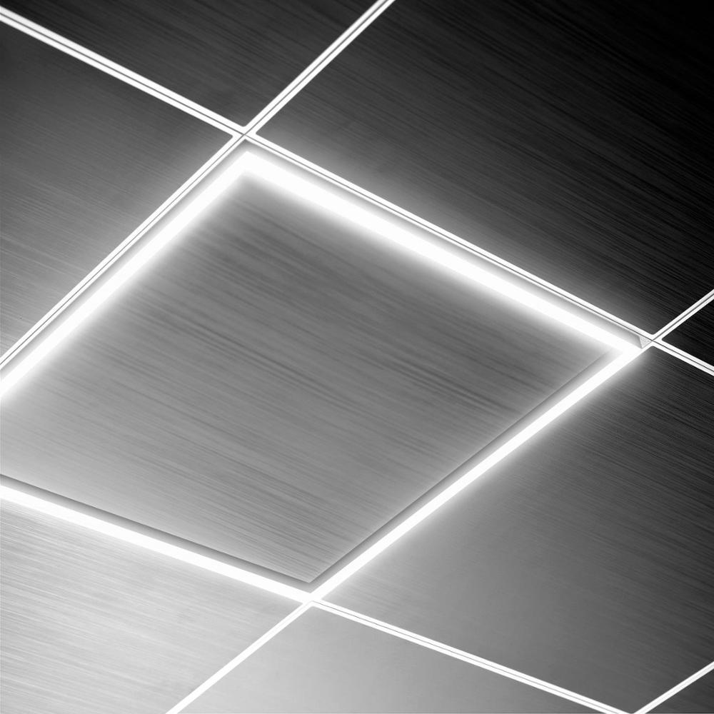 TECHBREY Panel LED de Marco Luminoso 60x60cm 40W 3600lm para Techo desmontable con driver incluido, Blanco Cálido, Neutro y Frío