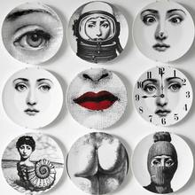 8/10-Inch Utenos Fornasetti Plates Home Decoration Christmas Decoration Dinner Plate Decorative Wall Dishes China Wall Plates