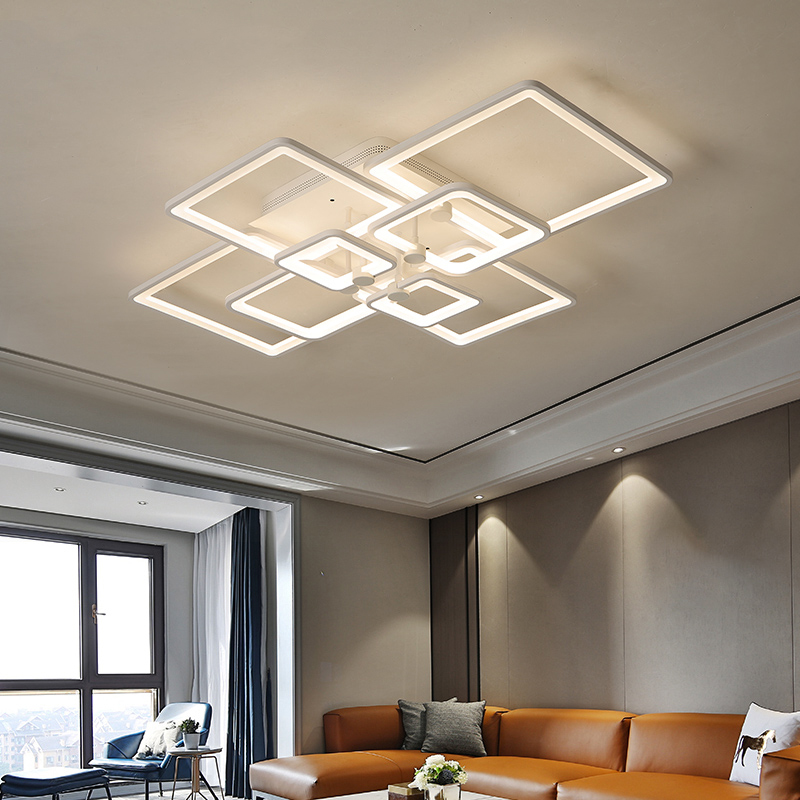 Rectangle Acrylic Modern Led ceiling lights for living room bedroom AC85-265V White Finish Ceiling Lamp Fixtures