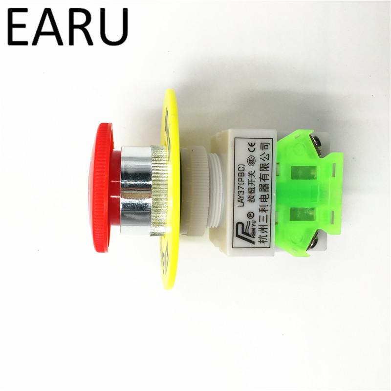 UTB8.b5 X7DEXKJk43PTq6y6SVXa0 - Red Mushroom Cap 1NO 1NC DPST Emergency Stop Push Button Switch AC 660V 10A Switch Equipment Lift Elevator Latching Self Lock