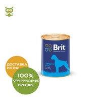 Brit Premium консервы для собак(паштет), Говядина и рис, 850 г