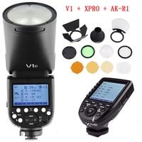 Godox V1 V1 N V1 C V1 S TTL Li ion Round Head Speedlight Flash for Nikon Sony Canon Fujifilm Olympus with Trigger Transmitter
