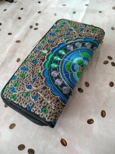 Women Oxford Embroidery Road womens wallets and purses Wallet Coin Purse Phone portefeuille female purse Girl Wallets Billetera photo review
