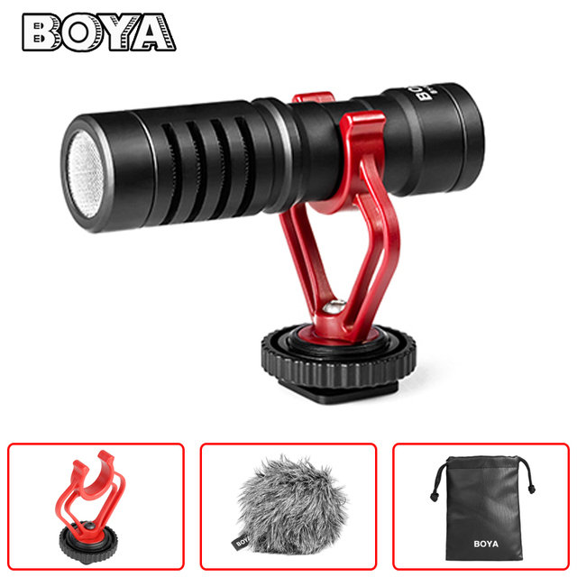 BOYA BY-MM1 VideoMicro Compact On-Camera Recording Microphone for Canon Nikon Sony DJI Osmo DSLR Smooth Q 4 Feiyu Gimbal VS RODE