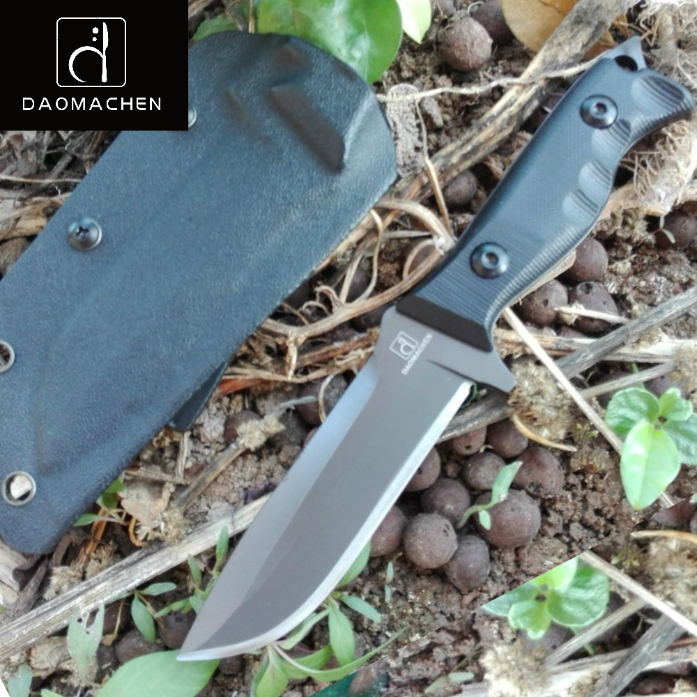 DAOMACHEN fixed blade Knife camping survival Hunting Knife With Imported K sheath G10 Handle Outdoor Knife