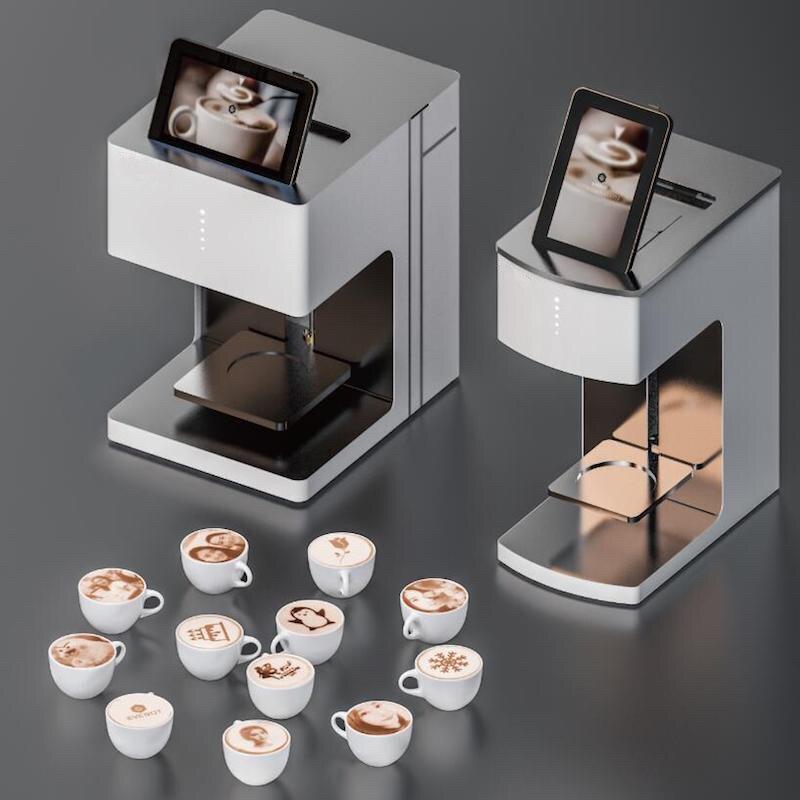 3D-принтер для печати на кофейной пенке, пивной пене, коктейлях, десертах и печенье. Кофе-принтер с WiFi делает креативные изображения и позволи...