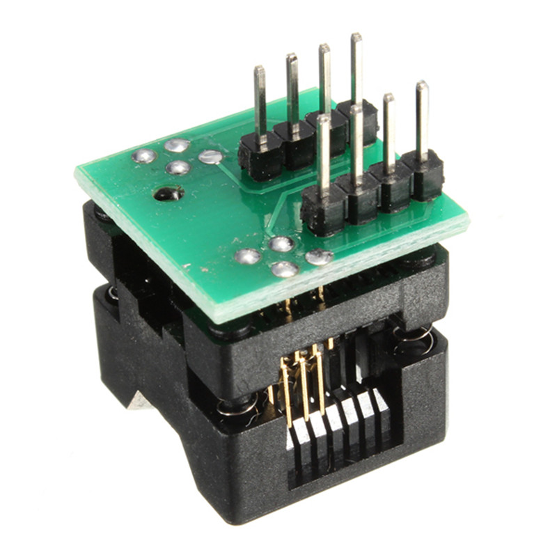 SOIC 8 SOP 8 To DIP 8  Socket Converter Module Programmer Output Power Adapter With 150mil Connector SOIC8 SOP8 to DIP8 EZ sop8 to dip8 programming adapter socket module black green 150mil