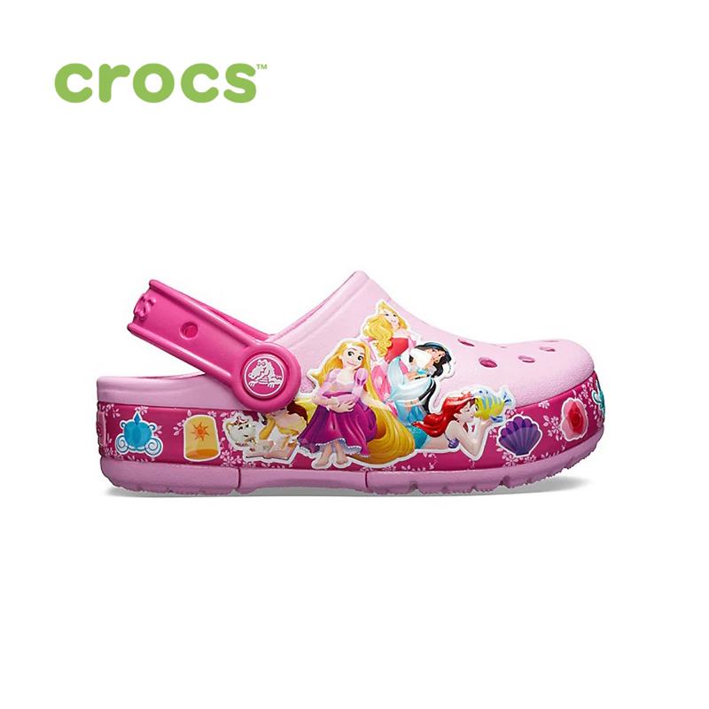 CROCS CrocsFL Princess Band Lt CLG K KIDS or boys/for girls, children, kids TmallFS shoes kids three dimensional flowers mesh princess dress