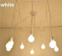 White 5/6/8 10 lights lustre Retro Edison bulb chandelier loft Light Pendant Lamp Spider light Restaurant Warehouse AC 85V 260V