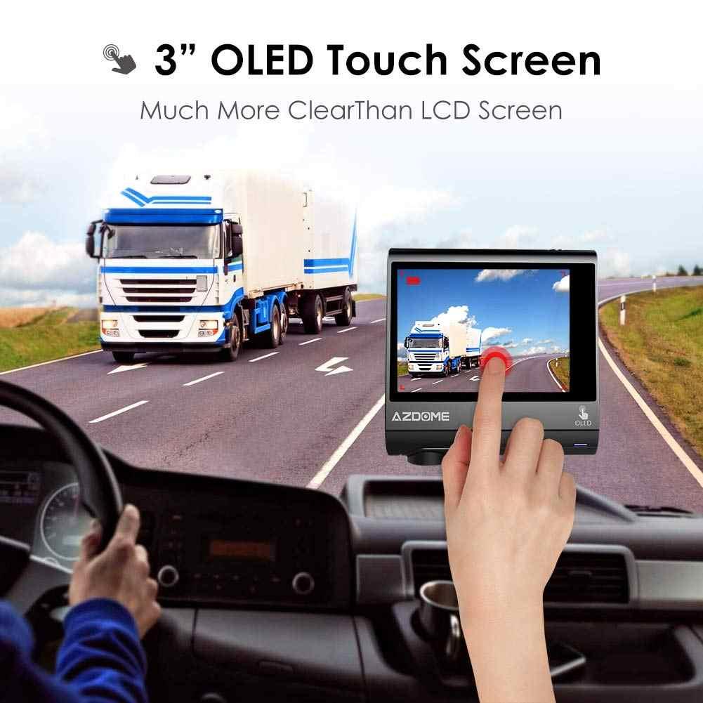 """AZDOME M05 OLED écran tableau de bord caméra 3 """"1080P FHD voiture caméra avec GPS pilote alerte de Fatigue nuit Vison tableau de bord caméra garde de stationnement"""