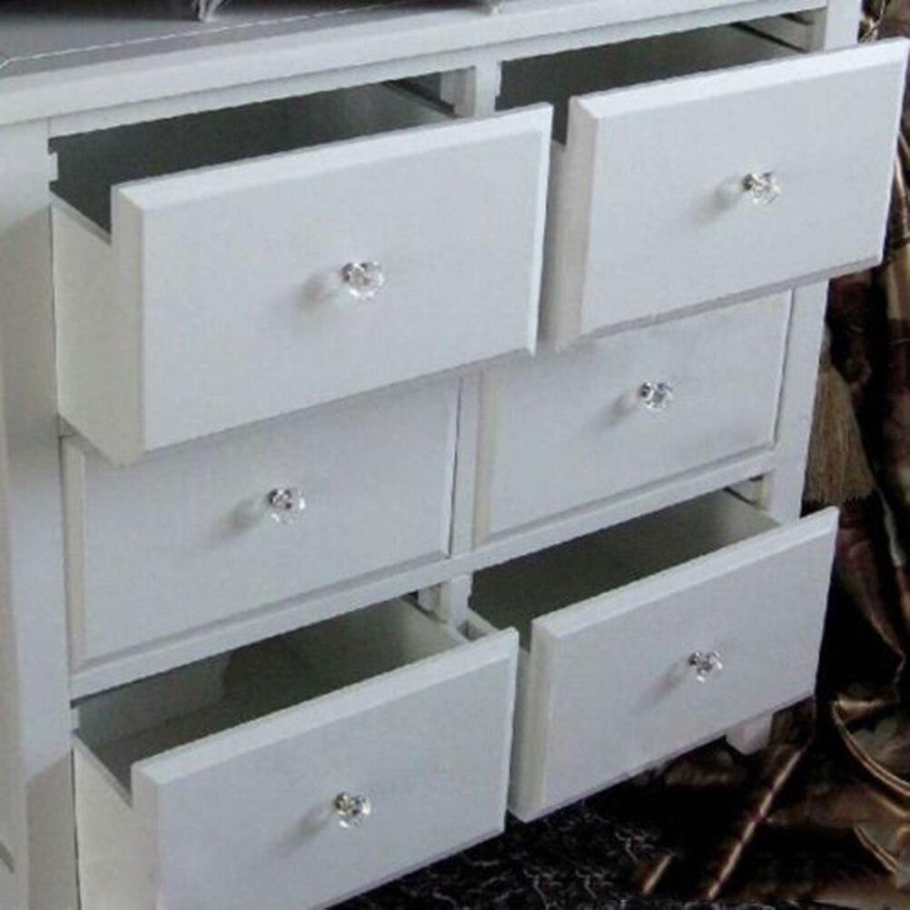 Superb 10 Pcs/1pack 30mm Crystal Diamond Shape Glass Drawer Cabinet Knob Pull  Handle Kitchen Door