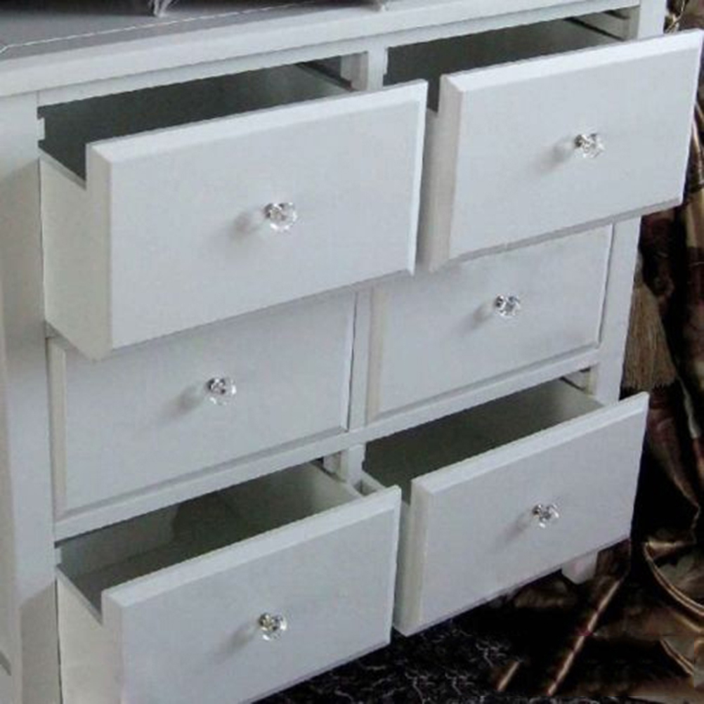 zlinkj 10 pcs 1pack 30mm crystal diamond shape glass drawer cabinet