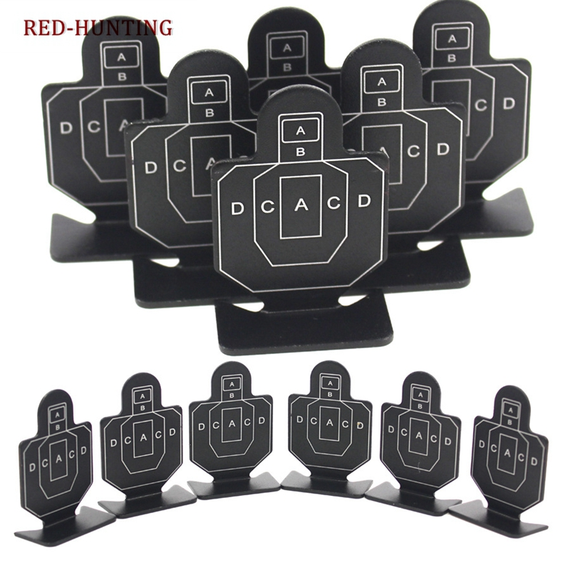 6Pcs Outdoor Metal Airsoft Tactical Target Hunting Shooting Target Set Durable Archery Kit Useful Target Practice Accessory