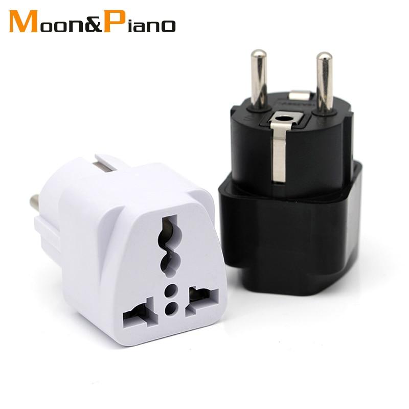 1Pc Travel Charger Wall AC Power Plug Adapter Converter US USA to EU Europe PEC