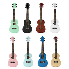 "23"" Zebra Acoustic Basswood Ukulele Uke Instrument Electric Bass 4 Strings Guitar Guitarra For Musical Instruments Lover"