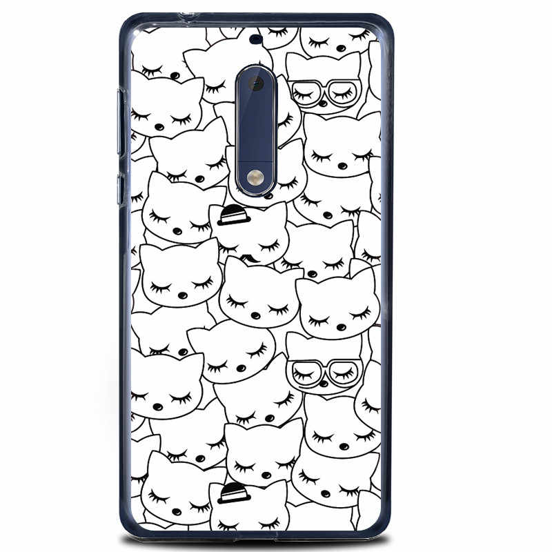 Os mais recentes Desenhos Animados TPU Soft Case Para Nokia Tampa 5 5.2 polegada de Silicone Macio À Prova de Choque Capa Completa Para Nokia 5 Nokia5 tampa traseira capa