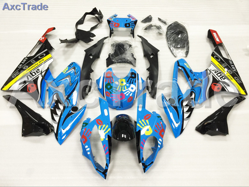 Motorcycle Fairings Kits For BMW S1000RR S1000 2015 2016 15 16 ABS Plastic Injection Fairing Bodywork Kit Blue Black A447 motorcycle blue bodywork kit fairing for bmw s1000rr s 1000 rr s 1000rr 2015 15 injection mold fairings cowl set uv painted