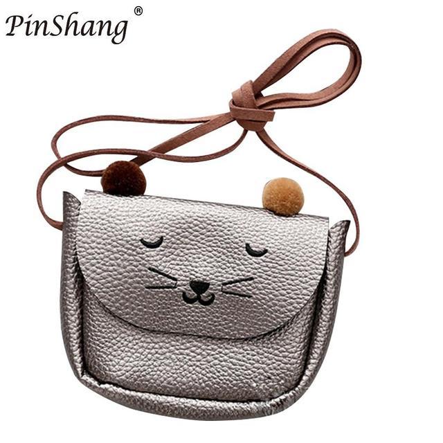 Children Shoulder Bag Mini Cat Ear Messenger Bags  Simple Small Square Bag Kids All-Match Key Coin Purse Cute Princess Handbags