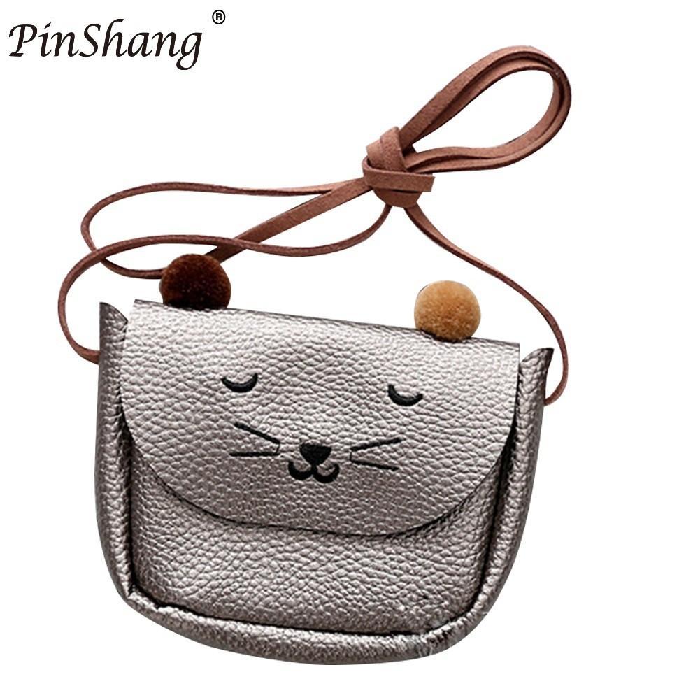 PinShang Mini Cute Cat Вушна сумка для дівчаток - Гаманці та портмоне