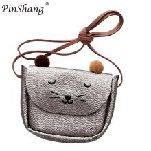 PinShang Mini Cute Cat Ear Skuldertaske til Girl Baby Børn Kid Fashion Bag Facotry Sende Direkte Bedste kvalitet ZK45