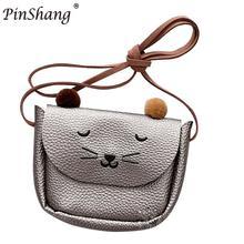 Pinshang mini Cute Cat ucho torba na ramię dla dziewczynki Baby dzieci Kid Fashion Bag przetwórni wysyłanie bezpośrednio Najlepsza jakość ZK45 tanie tanio Torebki na monety Kreskówki Owalne 10 cm Moda Dziewczyny 13cm Masz Hak pętli PBY_01W0 3 cm