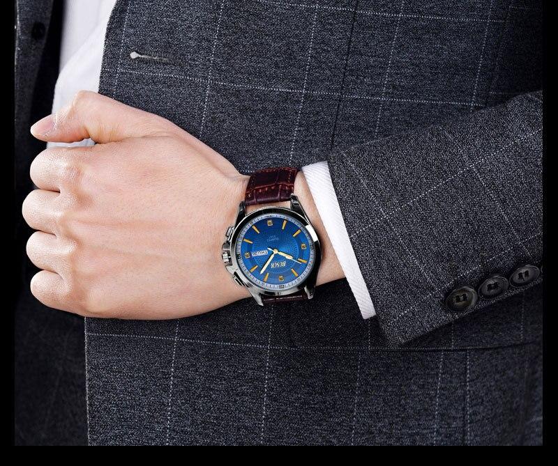 Fashion Clock Watch Men Watch Sport Leather Wrist Watch For Men Ladies Luxury Dress Quartz Business Watch adjustable wrist and forearm splint external fixed support wrist brace fixing orthosisfit for men and women