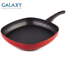 Сковорода-гриль без крышки Galaxy GL 9852 (Размер 28х28 см, высококачественный алюминий, антипригарное покрытие Silkware)