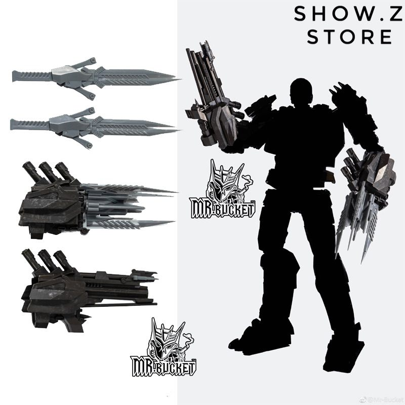 [Show.Z Store] Mr-Bucket Mr Bucket MR-02 MR02 Weapons Upgrade Kit Unique Toys UT R-01 R01 Peru Kill AOE Lockdown Transformation[Show.Z Store] Mr-Bucket Mr Bucket MR-02 MR02 Weapons Upgrade Kit Unique Toys UT R-01 R01 Peru Kill AOE Lockdown Transformation